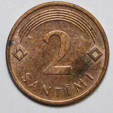 2 сантима 2007 Латвия - 2 santimi 2007 Latvia, из оборота