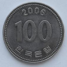 100 вон 2006 Южная Корея - 100 won 2006 South Korea, из оборота