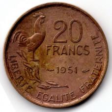 20 франков 1951 Франция - 20 francs 1951 France, из оборота