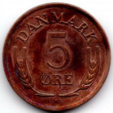 5 эре 1964 Дания - 5 ore 1964 Denmark, из оборота