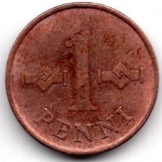 1 пенни 1964 Финляндия - 1 penni 1964 Finland, из оборота