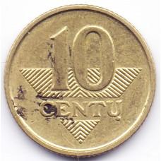10 центов 2007 Литва - 10 cents 2007 Lithuania, из оборота