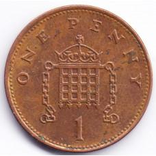 1 пенни 1994 Великобритания - 1 penny 1994 Great Britain, из оборота
