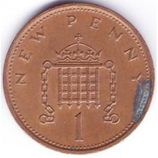 1 новый пенни 1978 Великобритания - 1 new penny 1978 Great Britain, из оборота