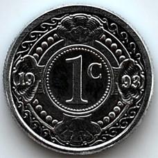 1 цент 1993 Нидерландские Антильские острова - 1 cent 1993 Netherlands Antilles, из оборота