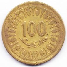 100 миллимов 1983 Тунис - 100 millim 1983 Tunisia, из оборота