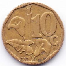 10 центов 1997 ЮАР - 10 cents 1997 South Africa, из оборота