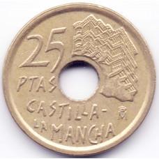 25 песет 1996 Испания - 25 pesetas 1996 Spain, из оборота