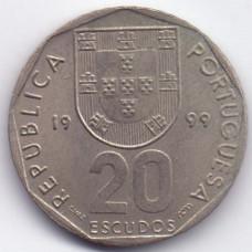 20 эскудо 1999 Португалия - 20 escudos 1999 Portugal, из оборота