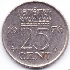25 центов 1976 Нидерланды - 25 cents 1976 Netherlands, из оборота