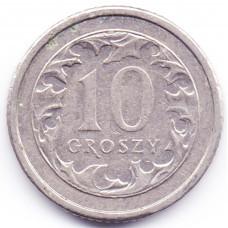10 грошей 2007 Польша - 10 groszy 2007 Poland, из оборота