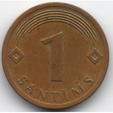 1 сантим 2008 Латвия - 1 centime 2008 Latvia, из оборота