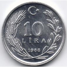 10 лир 1988 Турция - 10 lir 1988 Turkey, из оборота