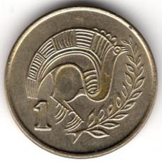 1 цент 1992 Кипр - 1 cent 1992 Cyprus, из оборота