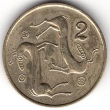 2 цента 1983 Кипр - 2 cents 1983 Cyprus, из оборота