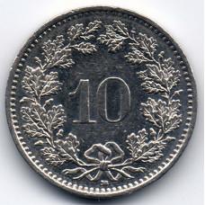 10 раппенов 2003 Швейцария - 10 rappenes 2003 Switzerland, из оборота