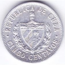 5 сентаво 1971 Куба - 5 centavo 1971 Cuba, из оборота
