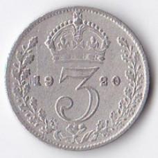 3 пенса 1920 Великобритания - 3 pence 1920 Great Britain