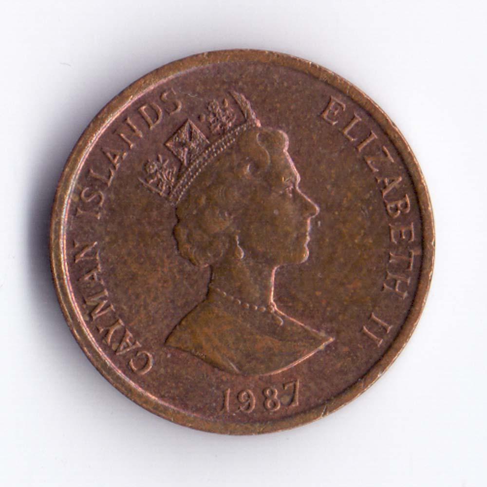 1 цент 1987 остров Кайман - 1 cent 1987 Cayman Islands