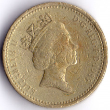one pound Elizabeth II 1985