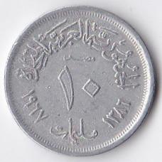 10 пиастров 1966 Египет - 10 piastres 1966 Egypt