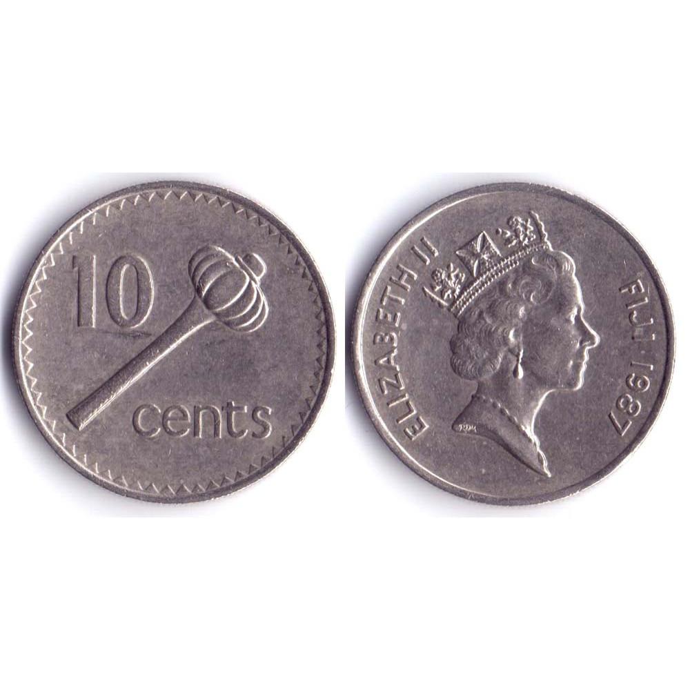 10 Центов 1987 Фиджи - 10 Cents 1987 Fiji