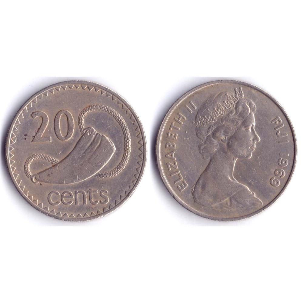 20 Центов 1969 Фиджи - 20 Cents 1969 Fiji