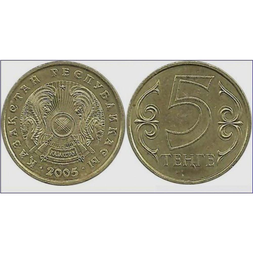 5 tenge 2005 Kazakhstan - 5 тенге 2005 Казахстан