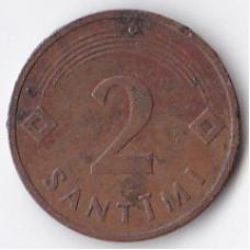 2 сантима 1992 Латвия - 2 santimi 1992 Latvia