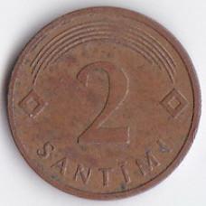 2 сантима 2006 Латвия - 2 santimi 2006 Latvia