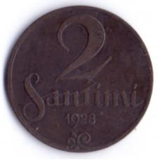 2 сантима 1928 Латвия - 2 santimi 1928 Latvia