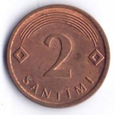 2 сантима 2009 Латвия - 2 santimi 2009 Latvia