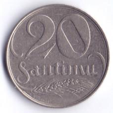 20 сантимов 1922 Латвия - 20 santimu 1922 Latvia