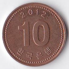 10 вон 2012 Южная Корея - 10 won 2012 South Korea