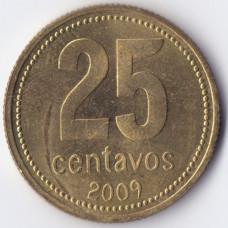 25 сентаво 2009 Аргентина - 25 centavos 2009 Argentina, из оборота