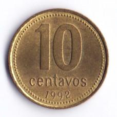 10 сентаво 1992 Аргентина - 10 centavo 1992 Argentina, из оборота