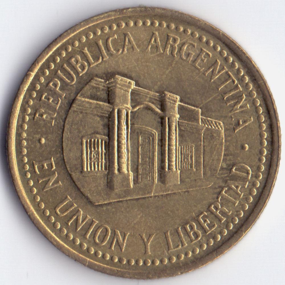 50 сентаво 2009 Аргентина - 50 centavos 2009 Argentina, из оборота