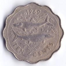 10 центов 1969 Багамские острова - 10 cents 1969 Bahamas