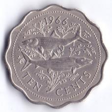 10 центов 1966 Багамские острова - 10 cents 1966 Bahamas