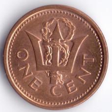 1 цент 2007 Барбадос - 1 cent 2007 Barbados, из оборота