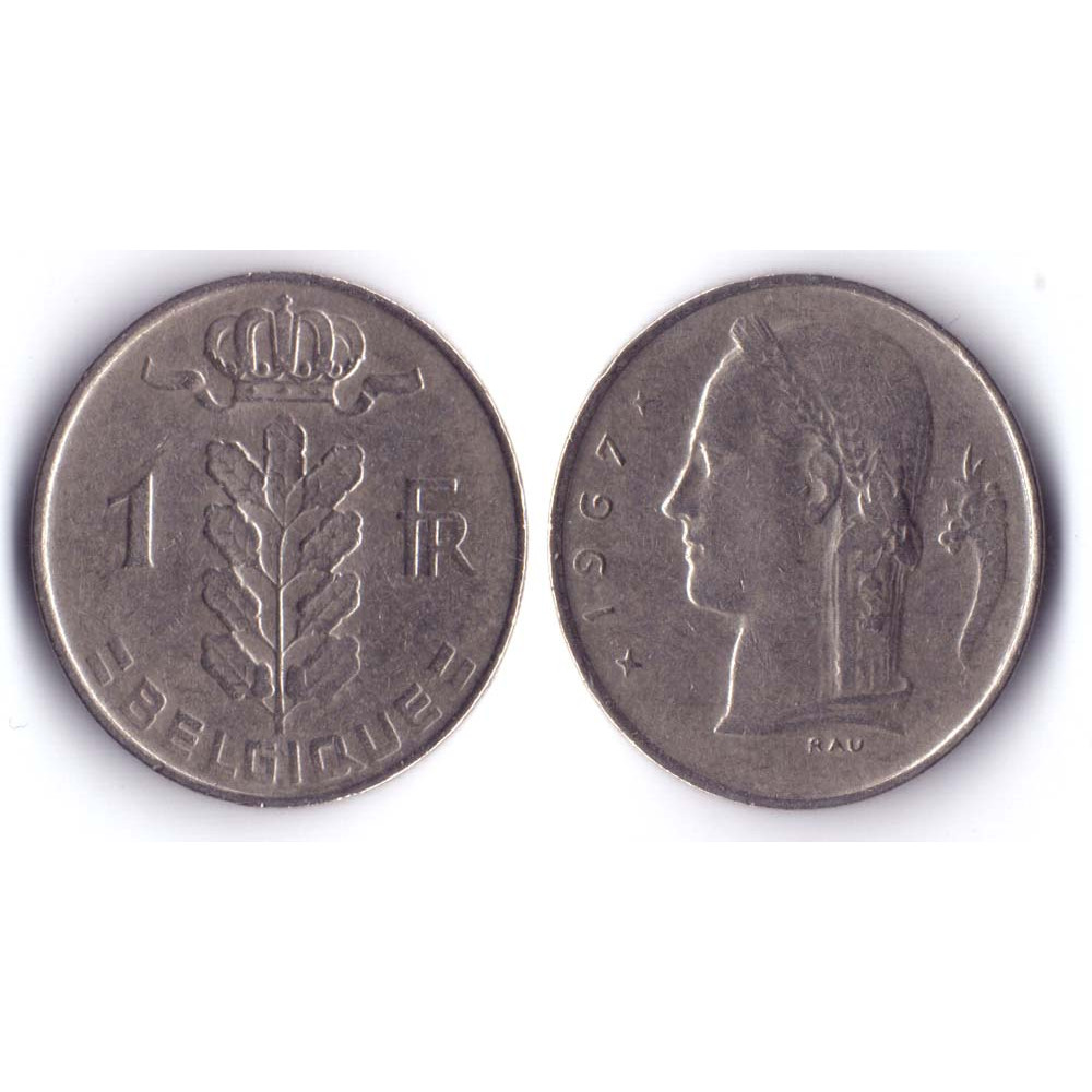 1 Franc BELGIQUE 1967 Q -  1 Франк Бельгия 1967 Q