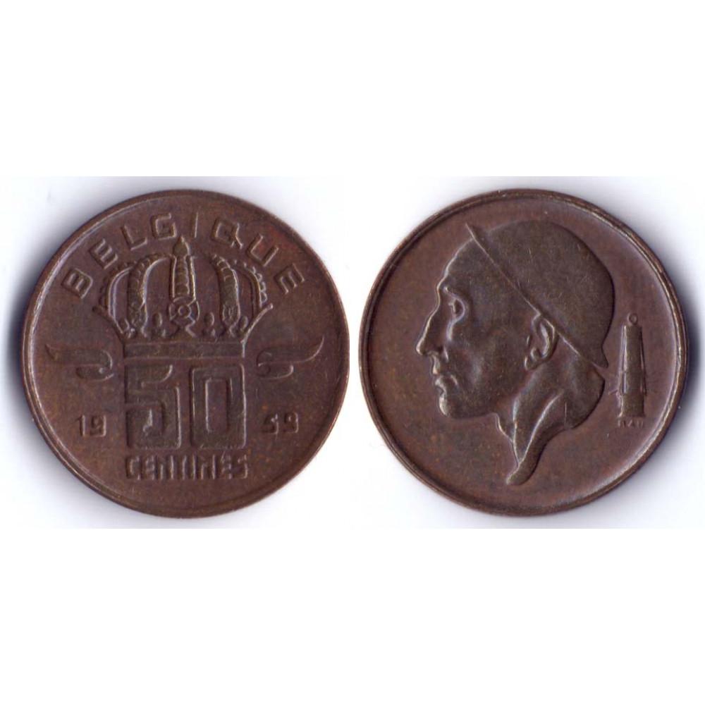 50 Centim BELGIQUE 1959 Q -  50 Сантим Бельгия 1959 Q