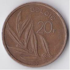 20 франков 1980 Бельгия - 20 francs 1980 Belgium (BELGIE)
