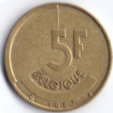 5 Franc BELGIQUE 1987 Q - 5 франков Бельгия 1987 Q