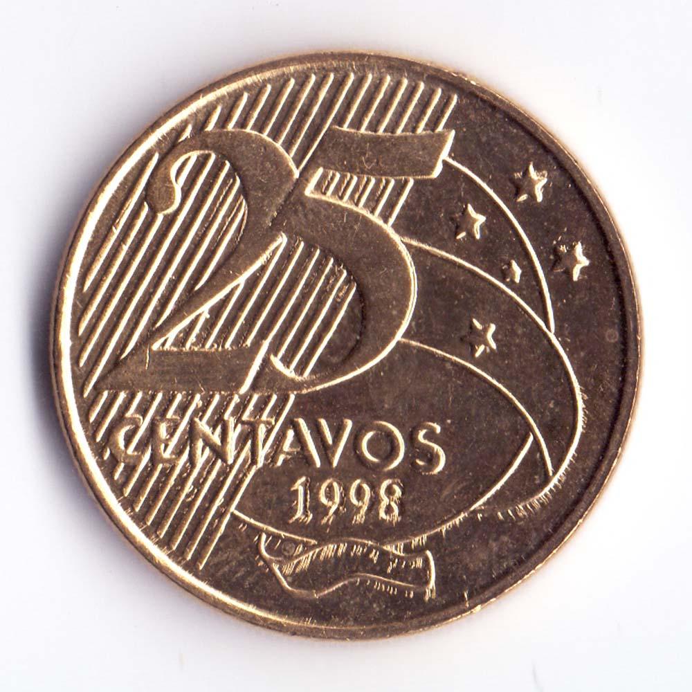 25 сентаво 1998 Бразилия