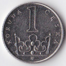 1 крона 2003 Чехия - 1 koruna 2003 Czech