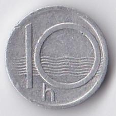 10 геллеров 1993 Чехия - 10 hellers 1993 Czech