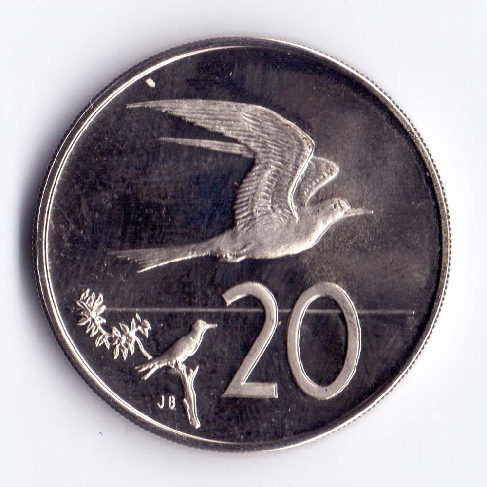 20 центов 1973 острова Кука - 20 cents 1973 Cook Islands