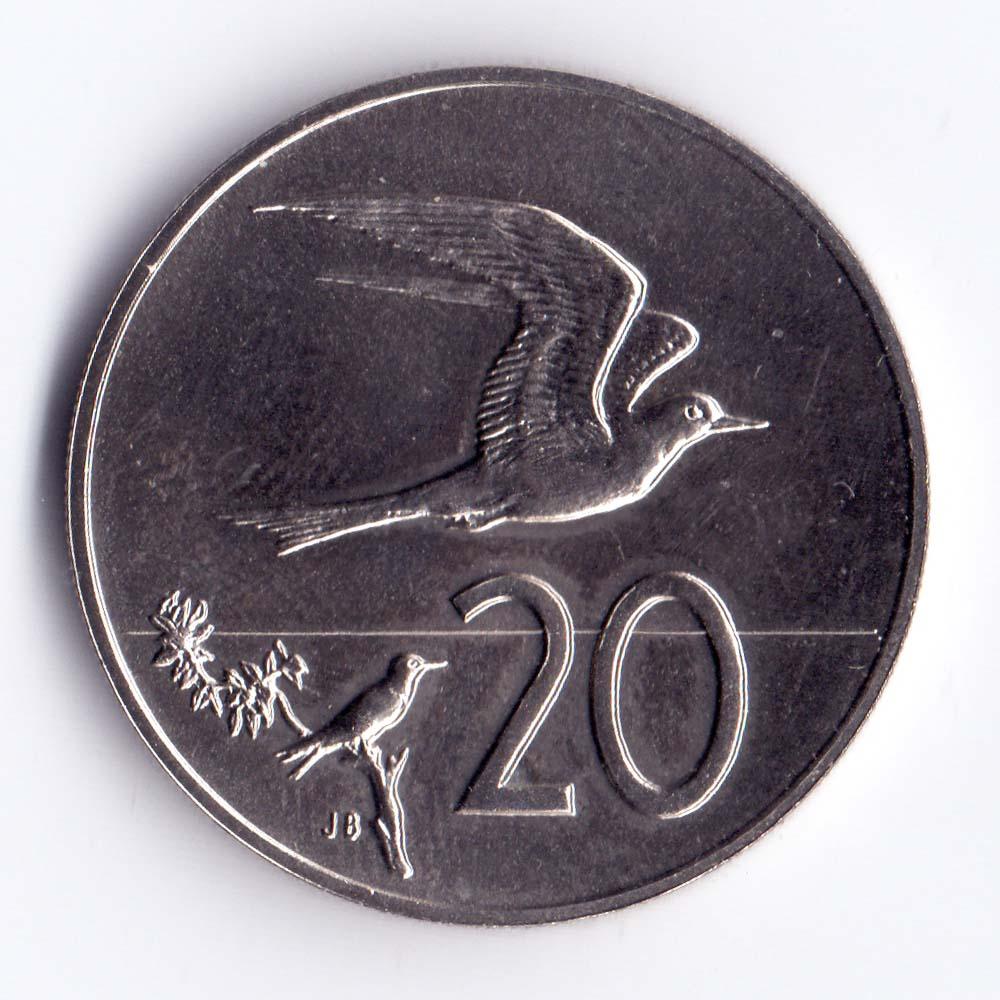 20 центов 1983 острова Кука - 20 cents 1983 Cook Islands