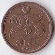 25 эре 1990 Дания - 25 ore 1990 Denmark